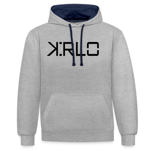 Kirlo Logotipo Negro - Sudadera con capucha en contraste