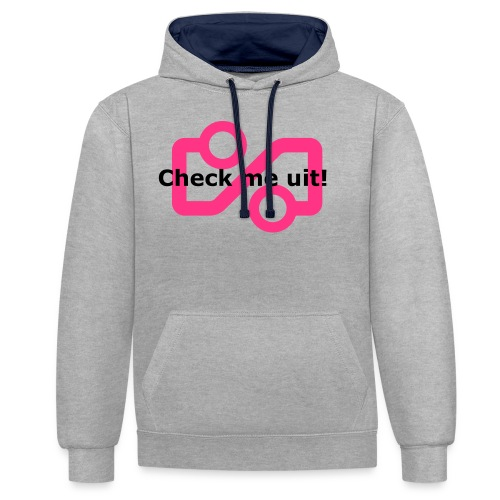 Check me Uit! - Contrast Colour Hoodie