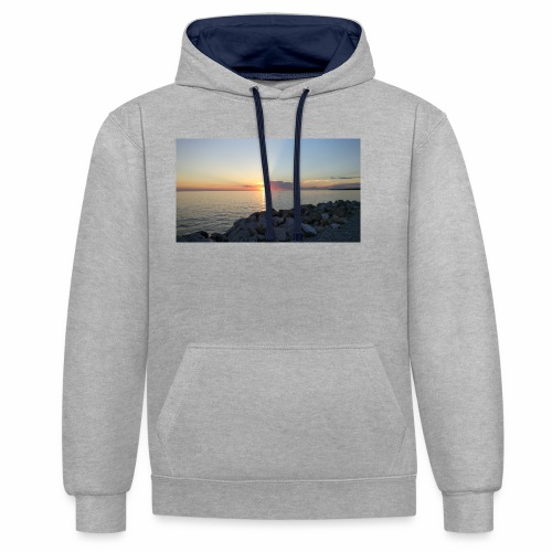 Sonnenuntergang - Kontrast-Hoodie