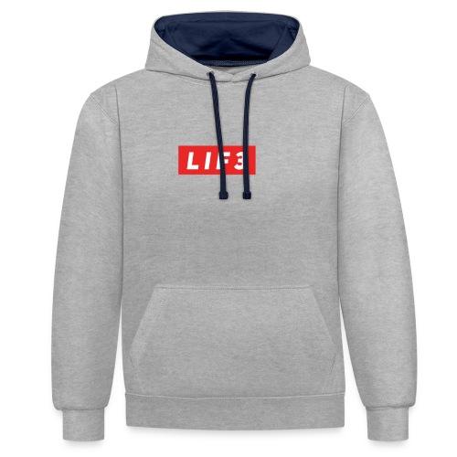 LIF3 Original Box Logo - Kontrastluvtröja