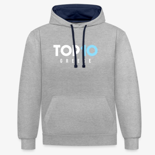 Top10Grece Avatar - Contrast Colour Hoodie