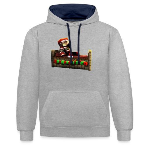 #Ausgeschlafen Weihnachts-Hoddie - Kontrast-Hoodie