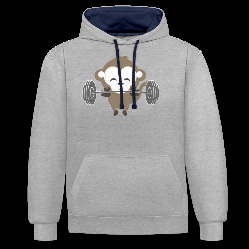 Fitnessmonkey neu - Kontrast-Hoodie