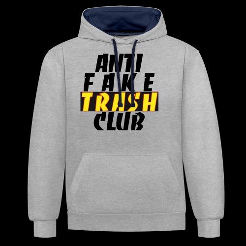 ANTI FAKE TRASH CLUB - Contrast Colour Hoodie
