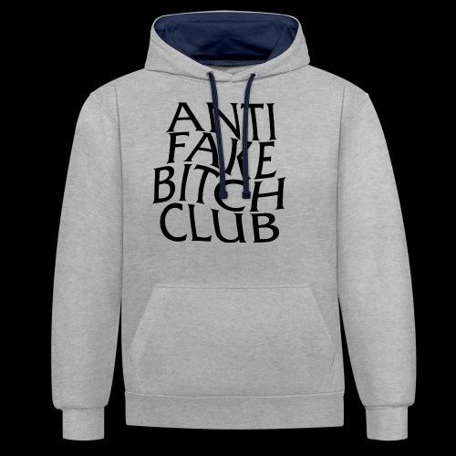 ANTI FAKE BITCH CLUB - Contrast Colour Hoodie