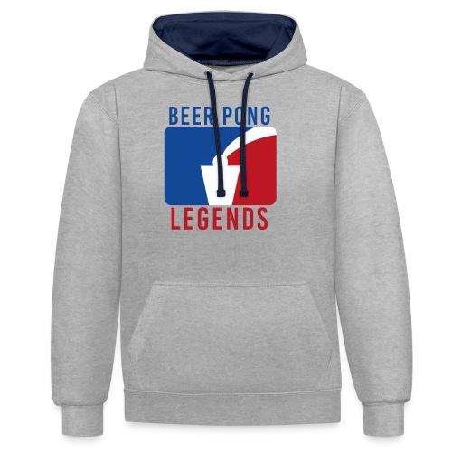 Beer Pong Legends - Kontrast-Hoodie