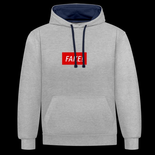 FAKE-Collection by ØNIC™ - Kontrast-Hoodie