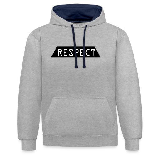 Respect - Kontrast-hettegenser