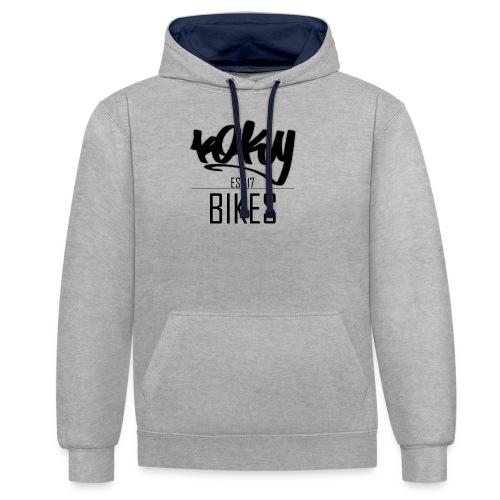 KOKYBIKES Hoodie - Begginings - Sudadera con capucha en contraste