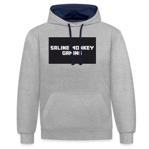 Saline monkey gaming tröja - Kontrastluvtröja
