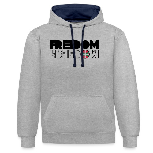FREEDOM EUSKAL HERRIA - Sudadera con capucha en contraste