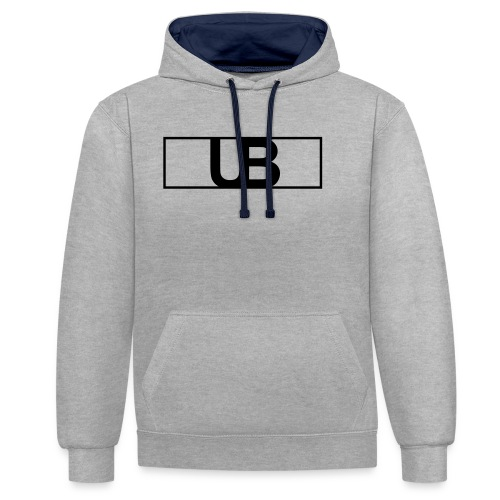 UrbanBrand Logo - Bluza z kapturem z kontrastowymi elementami