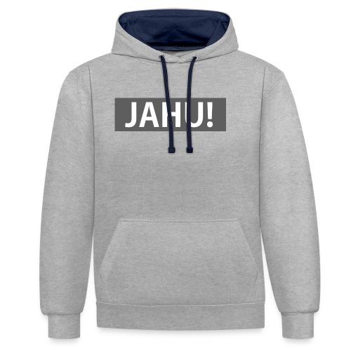 Jahu! - Kontrast-Hoodie