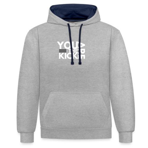 LOGO THE KICK REVERSED - Contrast hoodie