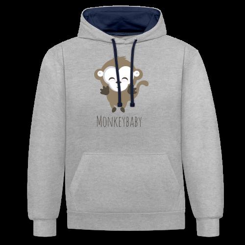 monkeybaby Logo - Kontrast-Hoodie