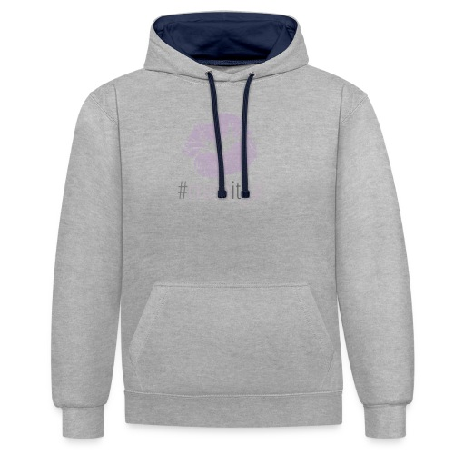 #crushitgal - Contrast Colour Hoodie