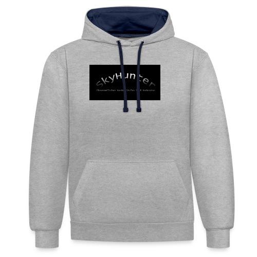 SkyHunter Logo Black - Kontrast-Hoodie