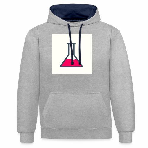 Logoshirt - Kontrast-Hoodie
