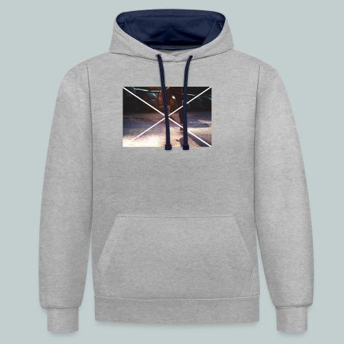 Skate-Hoodie&T-Shirt - Kontrast-Hoodie
