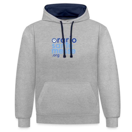 Orario Sante Messe T-shirt front - Felpa con cappuccio bicromatica