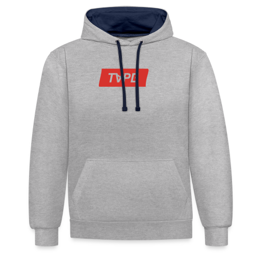TAPE SHAPE RED - Contrast hoodie