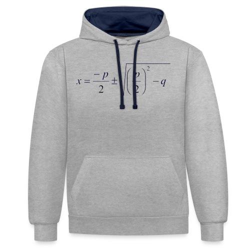 pq-Formel - Kontrast-Hoodie