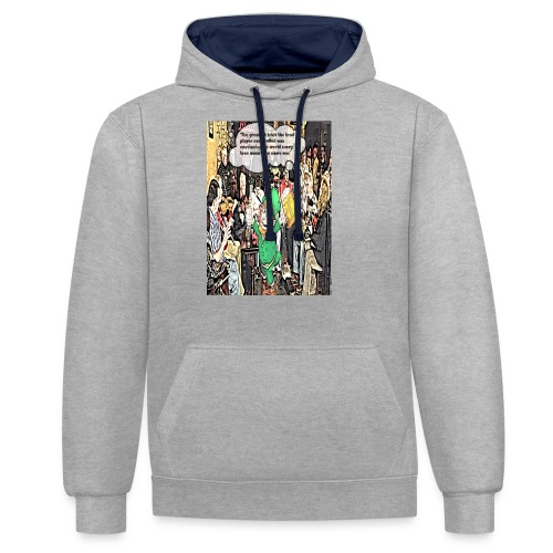 The Greatest Trick The Trad Player Ever Pulled - Contrast Colour Hoodie