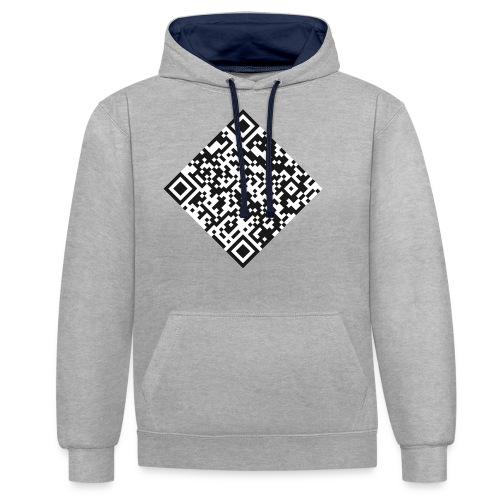 qr code pull - Sweat-shirt contraste