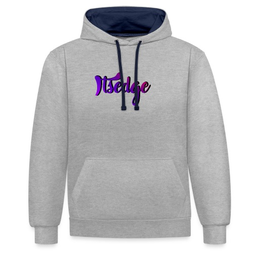 ItsEdge Signature Purple - Contrast Colour Hoodie