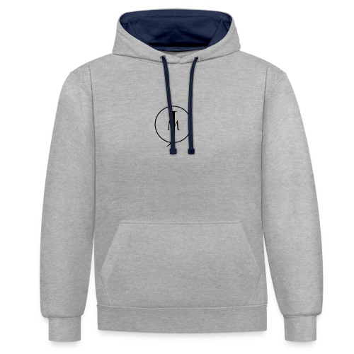 JM Designs Black on White - Contrast Colour Hoodie