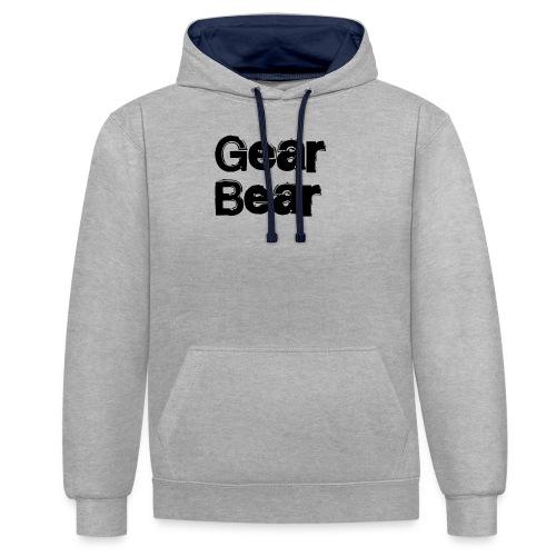 GearBear - Kontrast-hettegenser