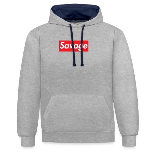 Savage - Kontrast-hettegenser