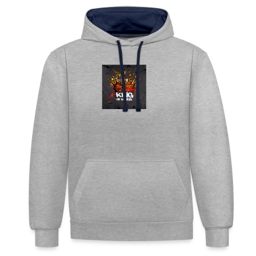 King of kings - Kontrast-Hoodie
