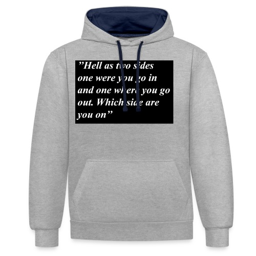Hell - Contrast Colour Hoodie