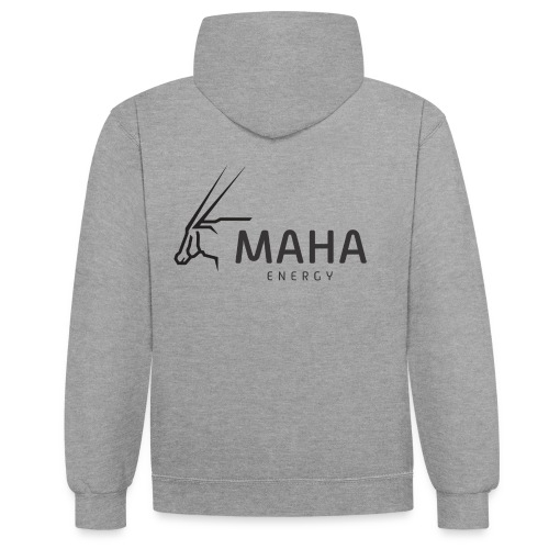Maha_Logo - Kontrast-hættetrøje