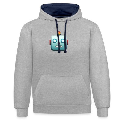Robot Emoji - Contrast hoodie
