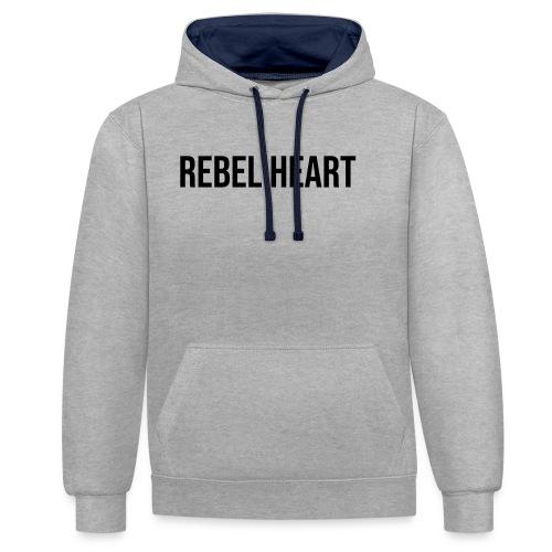 Rebel Heart - Kontrast-Hoodie