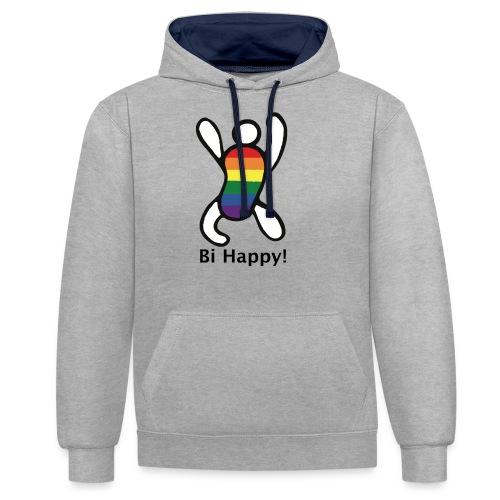Bi Happy! - Contrast hoodie