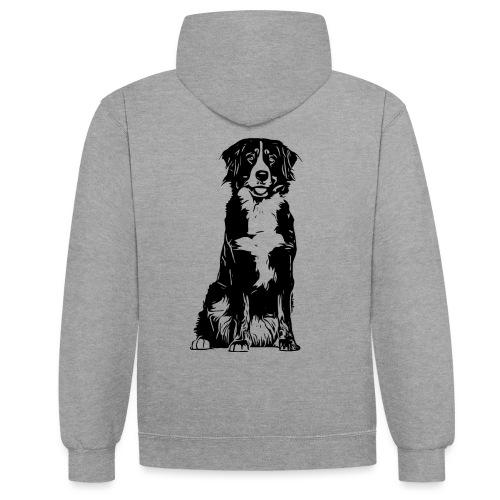 Berner Sennenhund Hunde Design Geschenkidee - Kontrast-Hoodie