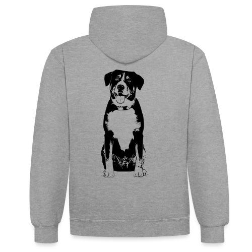 Entlebucher Sennenhund Hunde Design Geschenkidee - Kontrast-Hoodie