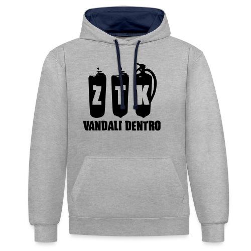 ZTK Vandali Dentro Morphing 1 - Contrast Colour Hoodie
