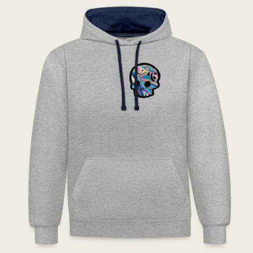 Skull craneo reflejante - Sudadera con capucha en contraste