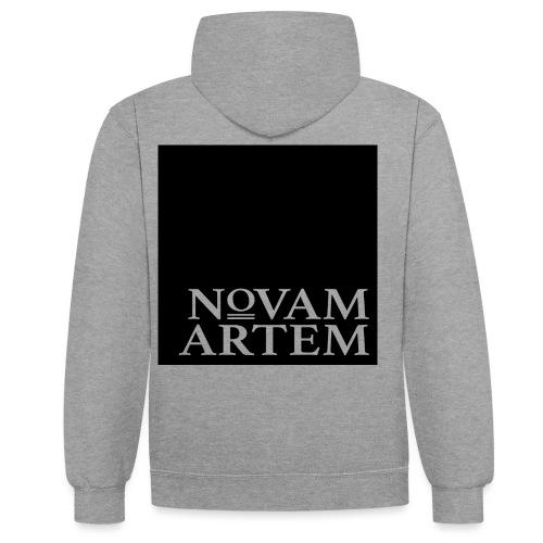 NOVAM ARTEM BLACK SQUARE - Kontrast-hættetrøje