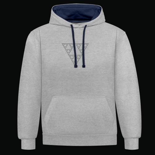 logo-Fractal-black png - Sweat-shirt contraste