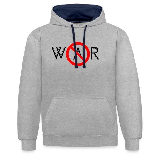 TIAN GREEN - No War - Kontrast-Hoodie