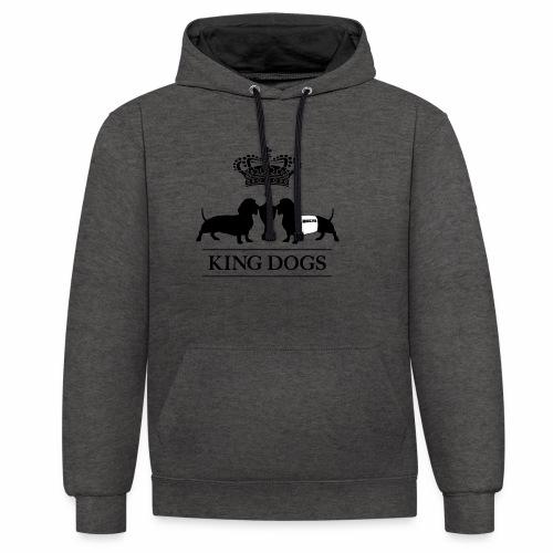 KING DOGS 2wear dog squad - Kontrast-hættetrøje