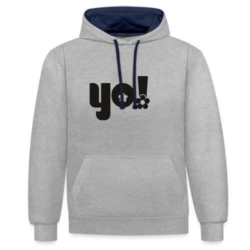 Yo power - Kontrast-hættetrøje