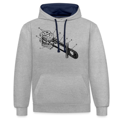 N_NST_CamLogo_BlackOnly - Contrast Colour Hoodie