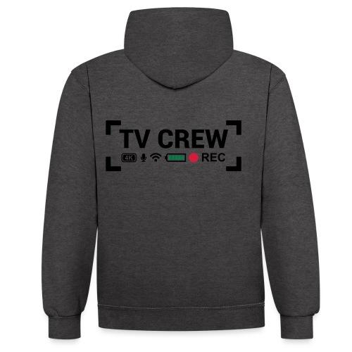 TV Crew - Felpa con cappuccio bicromatica