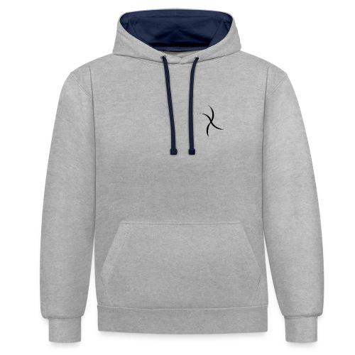 X apparel - Felpa con cappuccio bicromatica